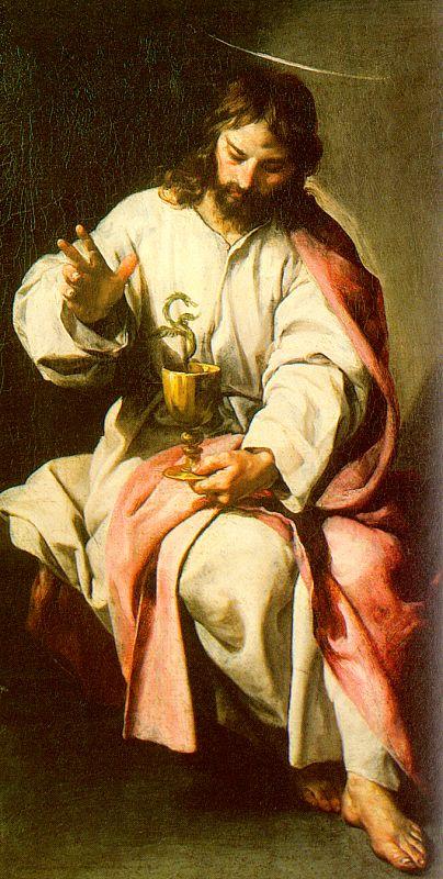 São João Evangelista com a taça envenenada