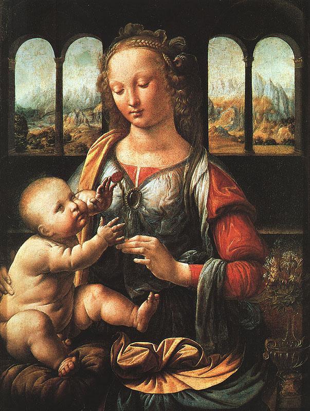 """Leonardo da Vinci """"A Madonna do cravo"""""""