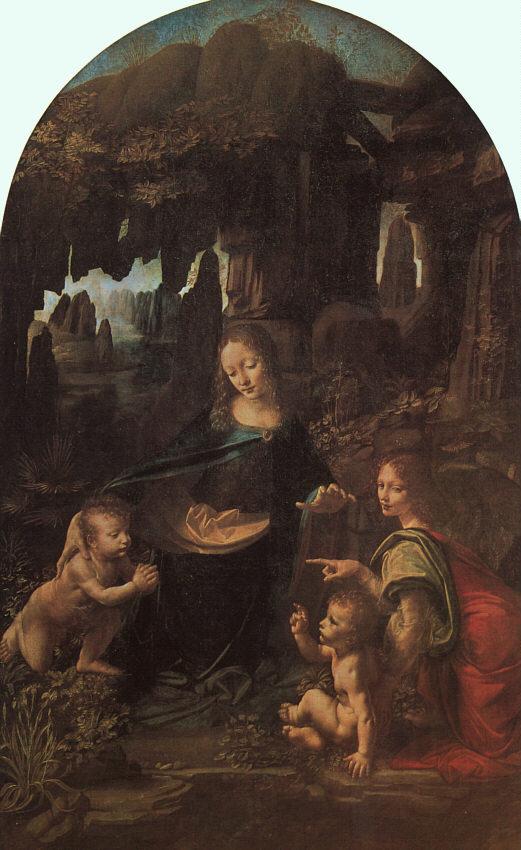 """Leonardo da Vinci """"A Virgem do Rochedo"""""""