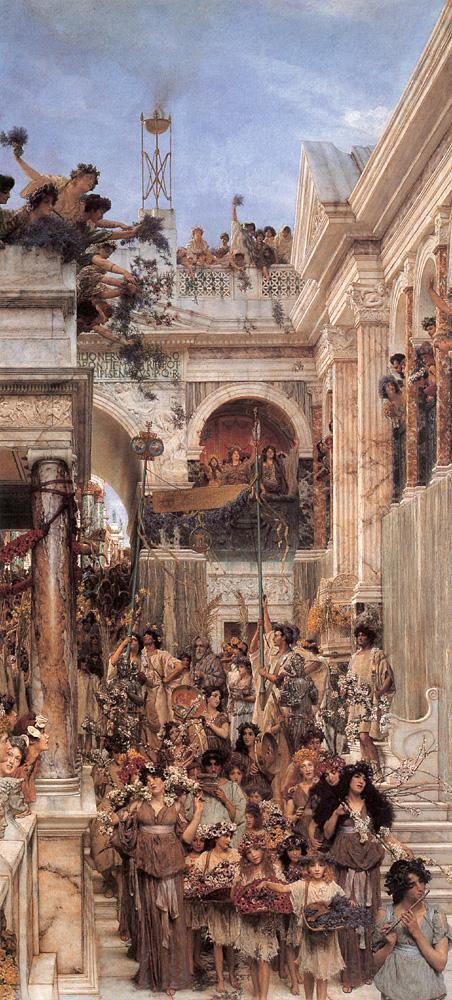 Sir Lawrence Alma-Tadema (1836-1912) óleo s/tela, 1894, 179,1x80 cm