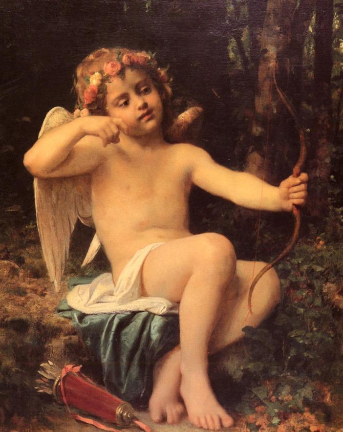 "Léon Bazile Perrault  ""As flechas de Cupido"" (1882) óleo s/tela  101,6 x 83,2 cm"
